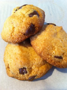 Melt-in-your-mouth gluten free chocolate chip cookies