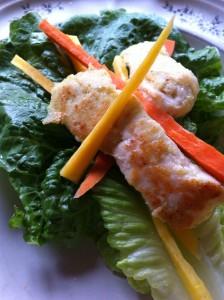 Battered Chicken Lettuce Wraps